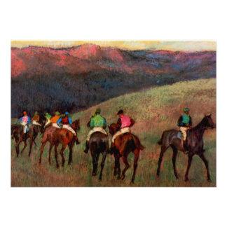 Os cavalos de corrida em uma arte do cavalo dos jó convite personalizado