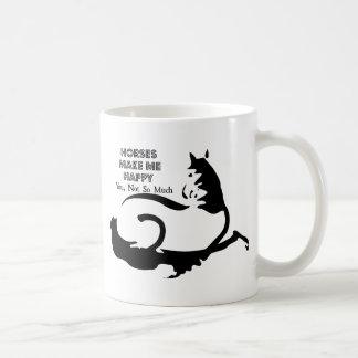 Os cavalos fazem-me feliz caneca de café