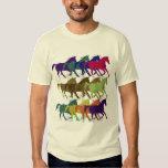 os cavalos modelam, animais de fazenda camiseta