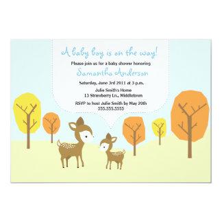 Os cervos da queda e o chá de fraldas da jovem convite 12.7 x 17.78cm