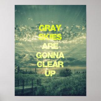 Os céus cinzentos estão indo esclarecer citações impressão