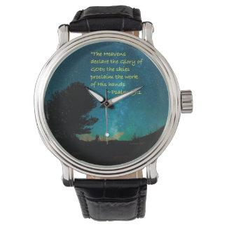 """Os """"céus declaram """" relógio de pulso"""