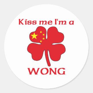 Os chineses personalizados beijam-me que eu sou adesivos em formato redondos