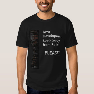 Os colaboradores de Java, mantêm-se longe de… T-shirts