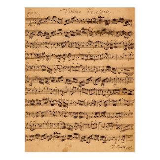 Os concertos de Brandenburger, No.5 D-Dur, 1721 Cartão Postal