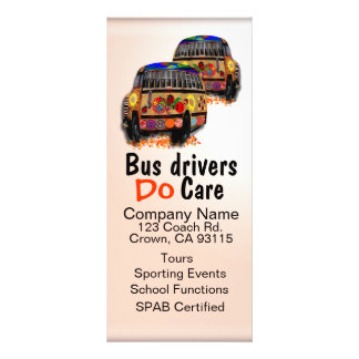 Os condutores de autocarro importam-se o anúncio 10.16 x 22.86cm panfleto