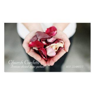 Os confetes da igreja projetam 5.18.2012 privados cartões de visitas