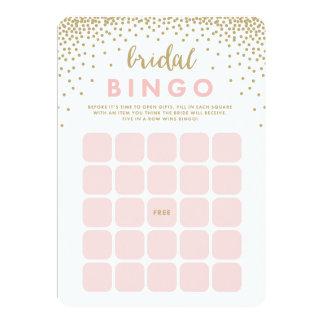 Os confetes regam cartões nupciais do Bingo de | Convite 12.7 X 17.78cm