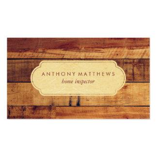 Os conselhos de madeira elegantes profissionais cartão de visita