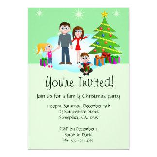 Os convites de festas da família do Natal convidam
