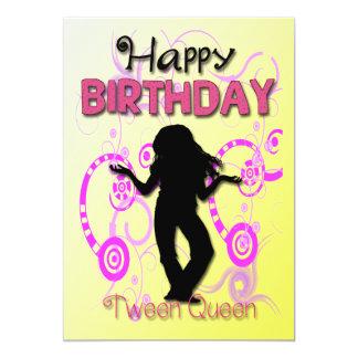 Os convites de festas de aniversários da menina do