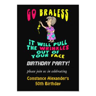 Os convites de festas de aniversários engraçados