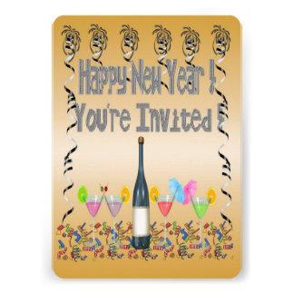 Os convites de festas de ano novo dos cocktail de