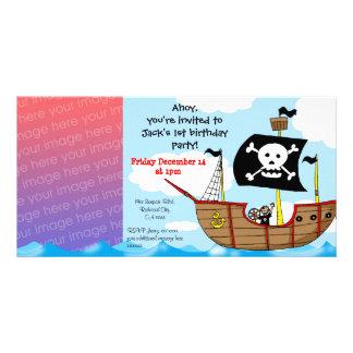 øs convites de festas do menino do aniversário do  cartão com foto personalizado