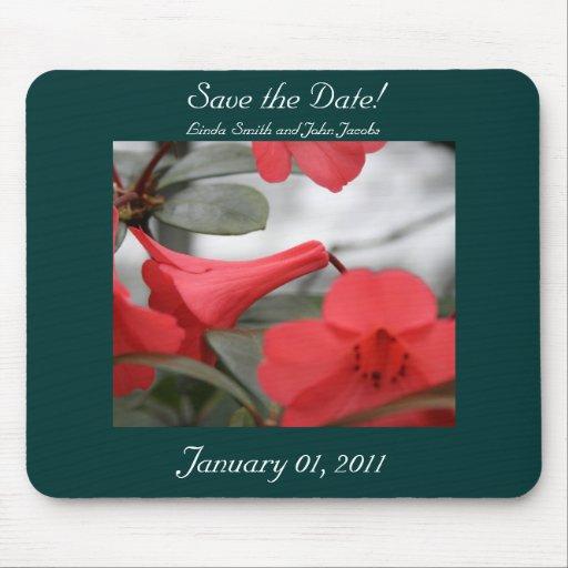 Os convites do casamento, salvar a data! mousepad