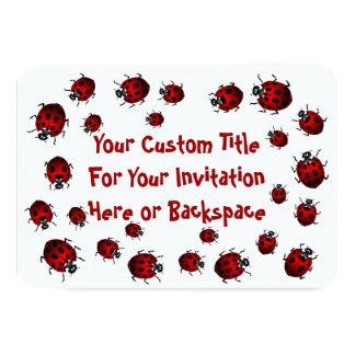Os convites do joaninha personalizaram o joaninha