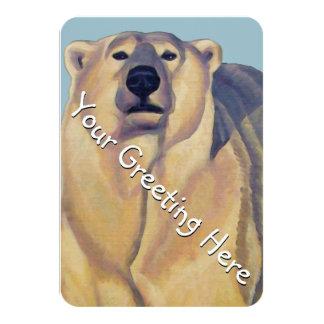 Os convites do urso personalizaram cartões da arte convite 8.89 x 12.7cm