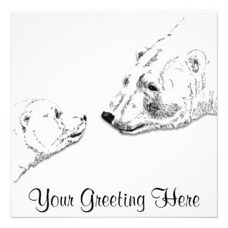 Os convites do urso personalizaram o cartão de Cub