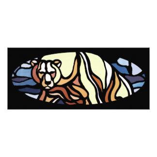 Os convites do urso personalizaram o cartão tribal