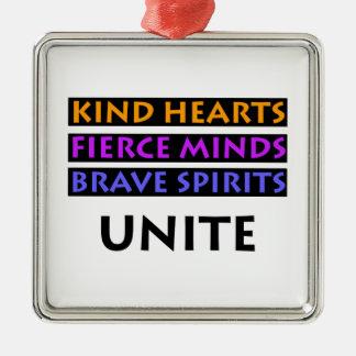 Os corações amáveis, mentes ferozes, espírito ornamento de metal