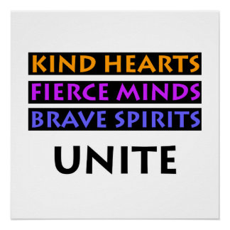 Os corações amáveis, mentes ferozes, espírito poster perfeito