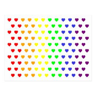 Os corações do arco-íris salvar o cartão da data cartão postal