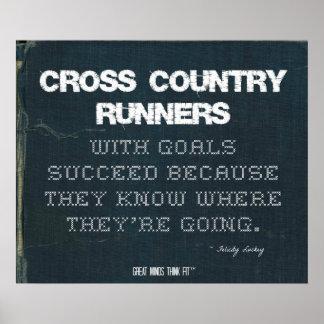 Os corredores do país transversal com objetivos poster