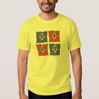 Os crânios engraçados na arte dos desenhos t-shirt