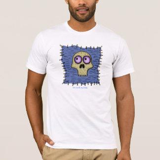 Os crânios engraçados na arte dos desenhos t-shirts
