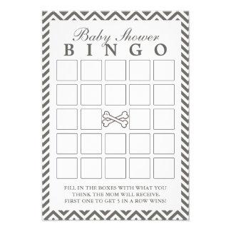 Os Crossbones Chevron listram cartões do Bingo do