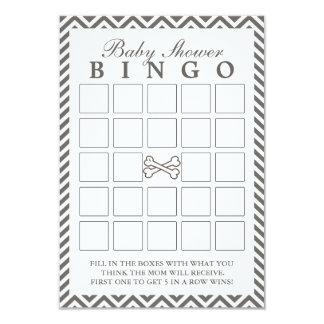 Os Crossbones Chevron listram cartões do Bingo do Convite 8.89 X 12.7cm