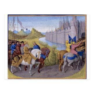 Os cruzados chegaram em Constantinople Cartão Postal