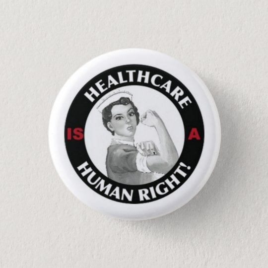 Os cuidados médicos são um botão direito humano bóton redondo 2.54cm