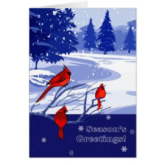 Os cumprimentos da estação. Cartões de Natal da
