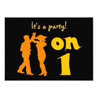 Os dançarinos da salsa em um dance party convidam convites personalizado