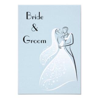 Os dançarinos retros azuis do casamento salvar a convite personalizado