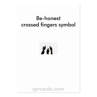 os dedos cruzados, Estão-honestcrossed symbo dos Cartão De Visita Grande