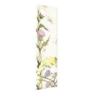 Os dentes-de-leão florais do vintage esticaram can impressão de canvas envolvida
