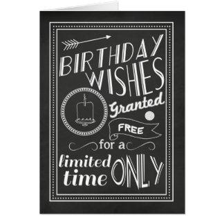 Os desejos do aniversário concederam o cartão do