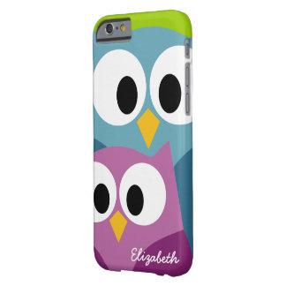 Os desenhos animados bonitos da coruja eyes com o capa barely there para iPhone 6