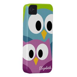 Os desenhos animados bonitos da coruja eyes com o capinha iPhone 4