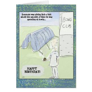 Cartão Os desenhos animados engraçados rolam cartão de