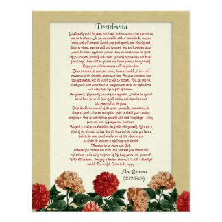 """Os Desiderata """"desejaram coisas"""", flores do hibisc Poster"""