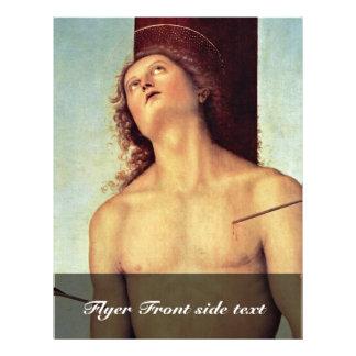Os detalhes de Sebastian da rua por Perugino Pietr Panfleto