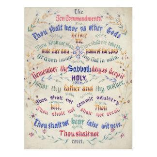 Os dez cartão dos mandamentos