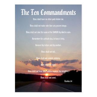 Os dez mandamentos - cartão do por do sol #3