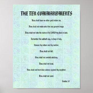 Os dez mandamentos - poster esverdeado das torções