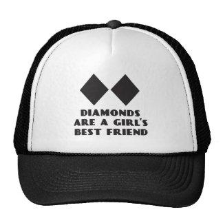 Os diamantes são chapéu do camionista do melhor am boné
