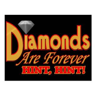 Os diamantes são para sempre t-shirt e presentes cartão postal