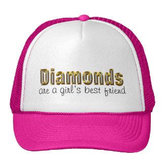 os diamantes são um melhor amigo das meninas boné